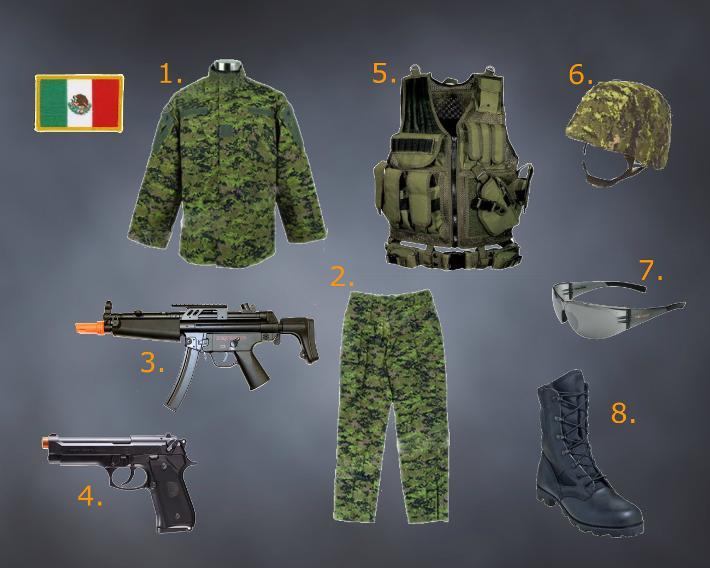 Airsoft Woodland Camo Loadout Mexican Army Loadout